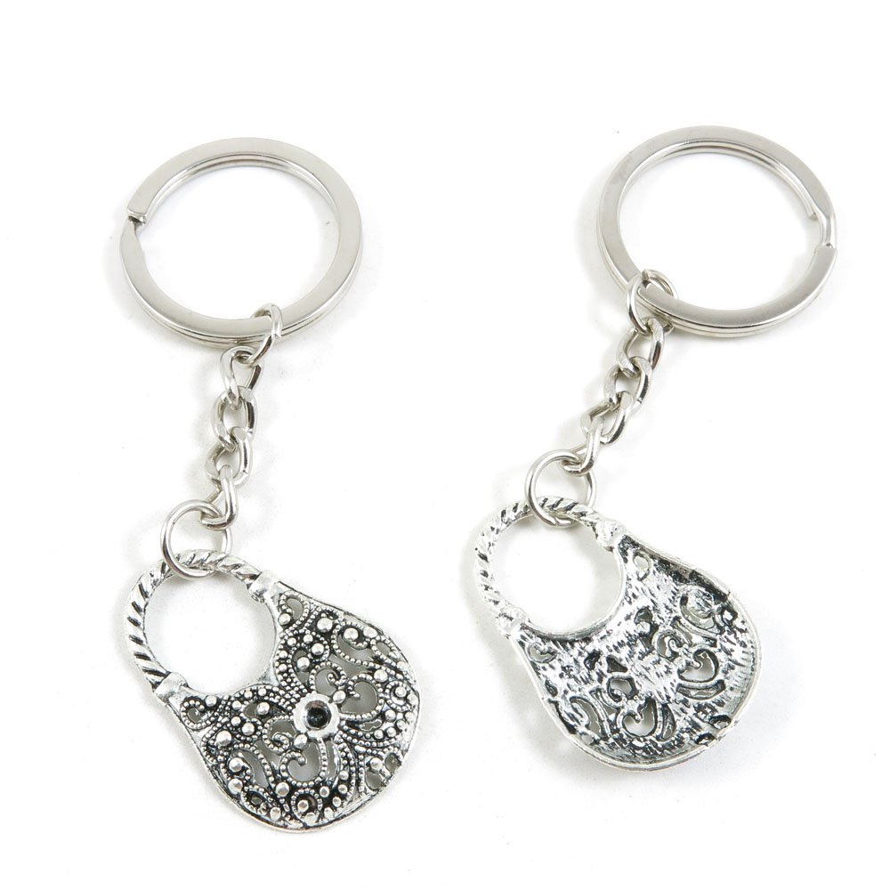 180 Pieces Fashion Jewelry Keyring Keychain Door Car Key Tag Ring Chain Supplier Supply Wholesale Bulk Lots M5JR4 Handbag Purse Shoulder Bag