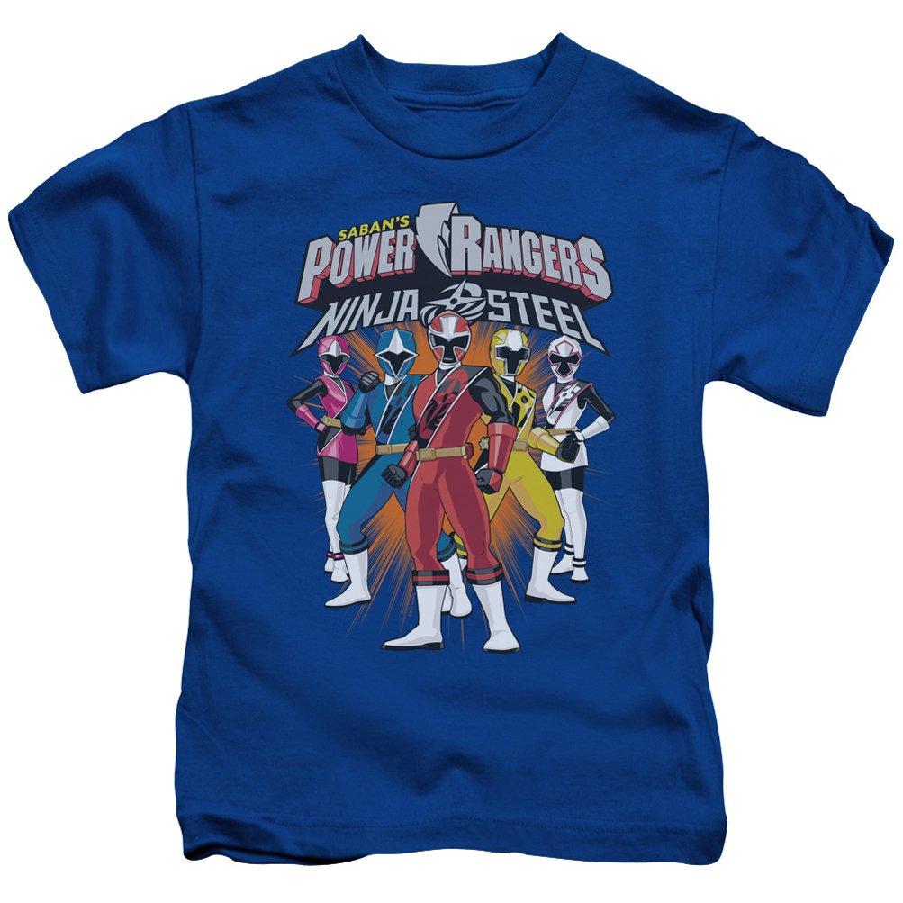 A& E Designs Kids Power Rangers Ninja Steel T-Shirt Team Tee Shirt TREV-PWR2303-KT