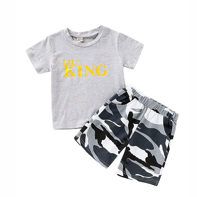 Kleinkind Kinder Jungen Kurzarm Tops T-Shirt Baumwolle Hosen Legging Outfits