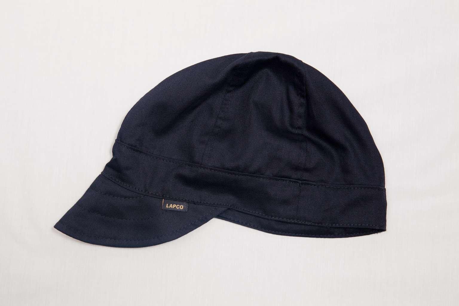 Lapco FR LAP 6CB-7 7/8 6-Panel Welder's Caps, 100% Cotton, 7 7/8'', Black
