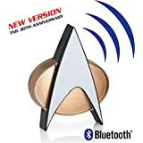 Star Trek TNG Bluetooth Communicator Badge with Chirp Sound Effect and Microphone & Speaker (New 30th Anniversary Edition) Star Trek Combadge