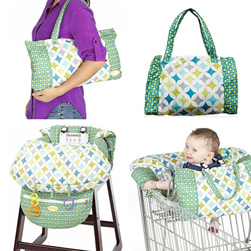 2 in 1 Shopping Cart and High Chair Cover for Baby and Toddlers - Folds into Pouch for Easy Carrying by HM Fulfillment (Image #9)