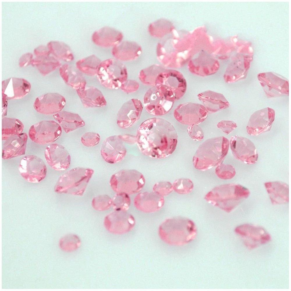TOOGOO ( R ) 5000 4.5 MMダイヤモンド散布クリスタル結婚式テーブルデコレーション( Aqua Blue ) ピンク B077HB23TT ピンク ピンク