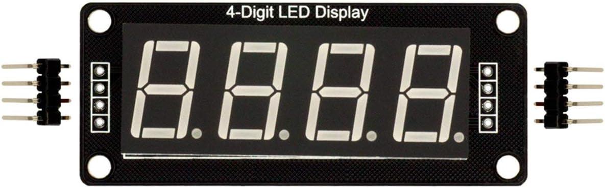 Ballylelly 0,56 Zoll TM1637 4Bit Digital LED 7Segment Clock Tube Display f/ür Arduino