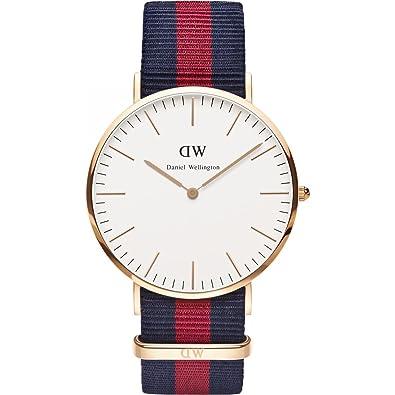 DANIEL WELLINGTON - Reloj de los hombres de 40 mm, DANIEL WELLINGTON OXFORD ROSA de ORO DW00100001: Amazon.es: Joyería