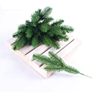 JAROWN Christmas Artificial Pine Branches for Decorating 25pcs 10 Inches with Gift