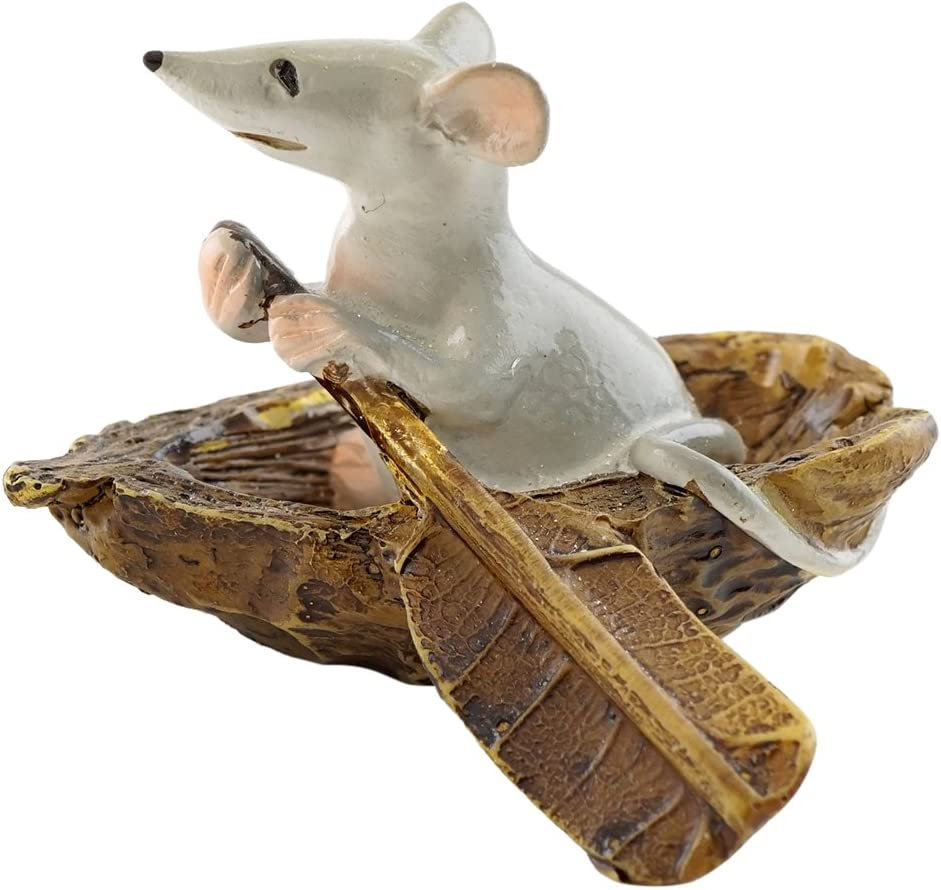 Top Collection 4469 Mouse Rowing Boat Animal Figurine