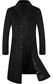 aa90e3d67087 Men's Trench Coat 80% Wool Content French Long Jacket Winter Business Top  Coat