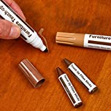 Furniture Repair Markers And Wax Sticks With Sharpener Kit - Set Of 13 - Everything You Need For Furniture Touch Ups - For Scratches, Nicks, Scuffs Etc. - Great For Handymen & Homeowners - By Katzco