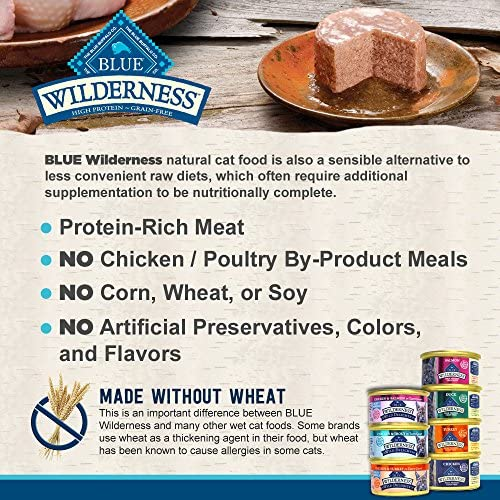 Blue Buffalo Wilderness Grain-Free Cat Food Variety Pack Box - 7 Flavors (4 Classic Flavors & 3 Wild Delights Flavors) - 21 (3 Ounce) Cans - 3 of Each Flavor 6