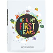Me & My First Years Baby Memory Book - Animals. Personalised Album for Photos, Pictures & Development. Perfect (White)