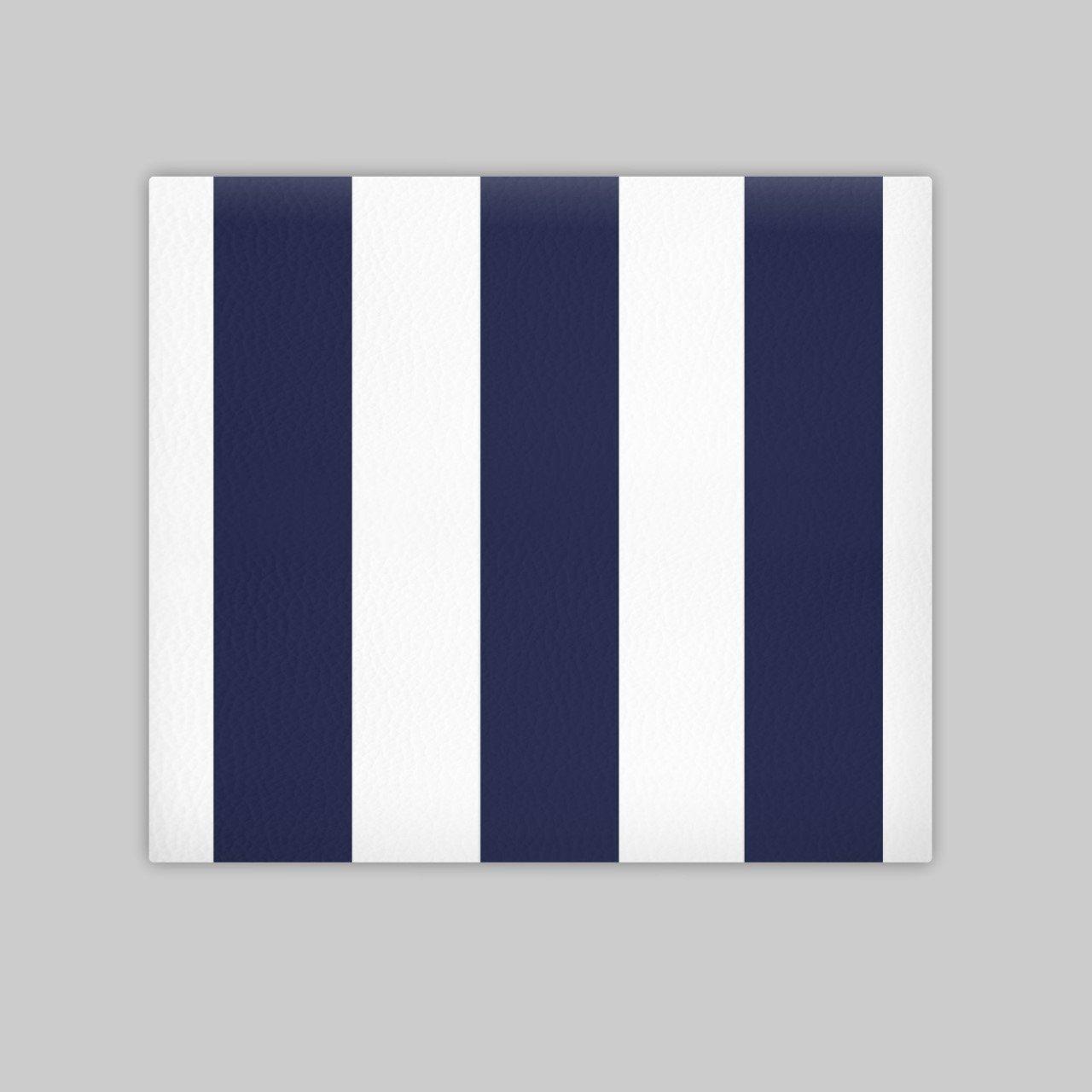 SUENOSZZZ - Cabecero Ohio Líneas Verticales (Cama 90) 100x120 cms. Color Blanco y Azul: Amazon.es: Hogar