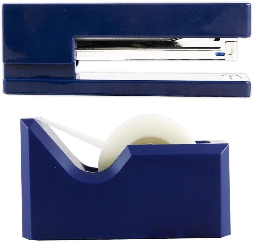 1 Stapler /& 1 Tape Dispenser White JAM PAPER Office /& Desk Sets 2//Pack