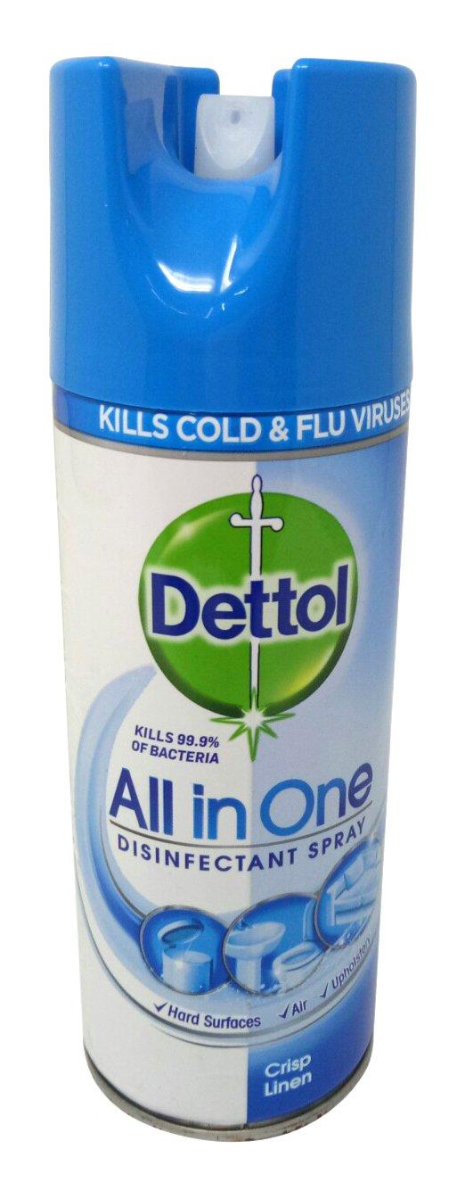 Dettol All in One Disinfectant Spray - Crisp Linen, 400ml Bottle