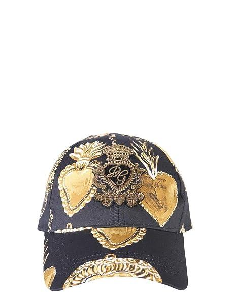 negozi popolari all'avanguardia dei tempi vendita a buon mercato nel Regno Unito Dolce E Gabbana Cappello Uomo GH590ZFSFIZHNGG7 Cotone Nero ...