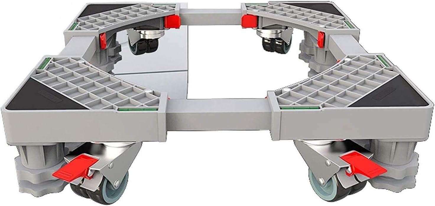 Pedestal de soporte de la lavadora, base de secador pesado multifuncional para refrigerador y secador, soporte de acero inoxidable para máquina expendedora de nevera mini, soporte de base ajustable un