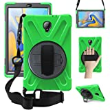 ZenRich Galaxy Tab A 10.5 Case 2018, SM-T590/T595 Heavy Duty Shockproof Rugged Case with 360 Rotatable Kickstand Hand…