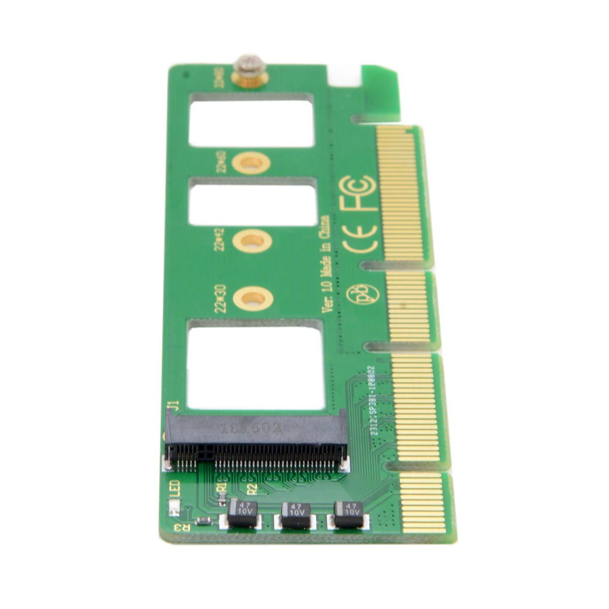 Cablecc NGFF M-Key NVME AHCI SSD to PCI-E 3.0 16x x4 Adapter for XP941 SM951 PM951 A110 m6e 960 EVO SSD by cablecc (Image #1)