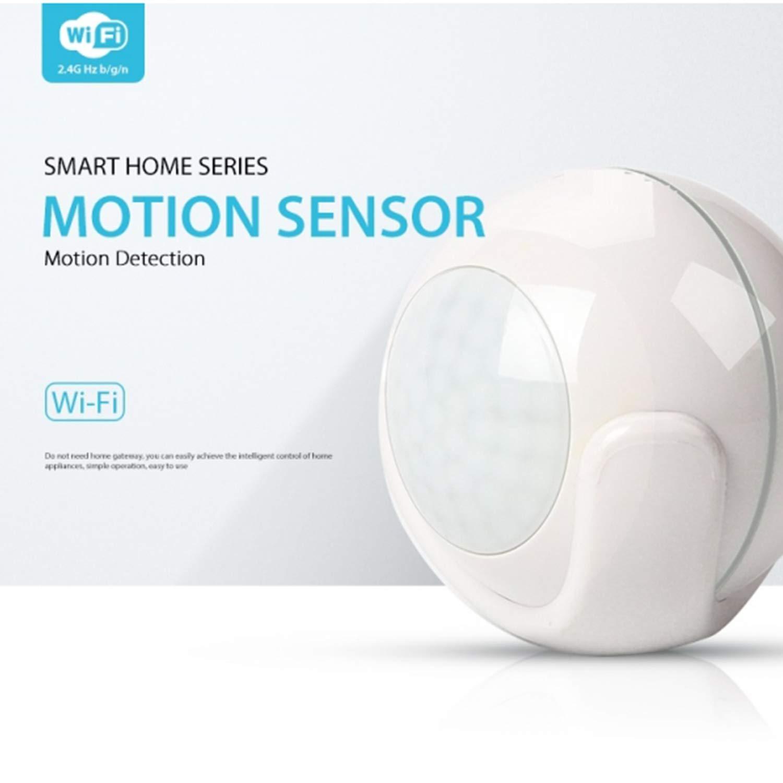 emette suoni e illuminazione quando viene attivato un allarme funziona con Alexa e Google Assistant Sensore di allarme Jinvoo Smart WiFi avvisi di avvisi di allarmi e applicazioni