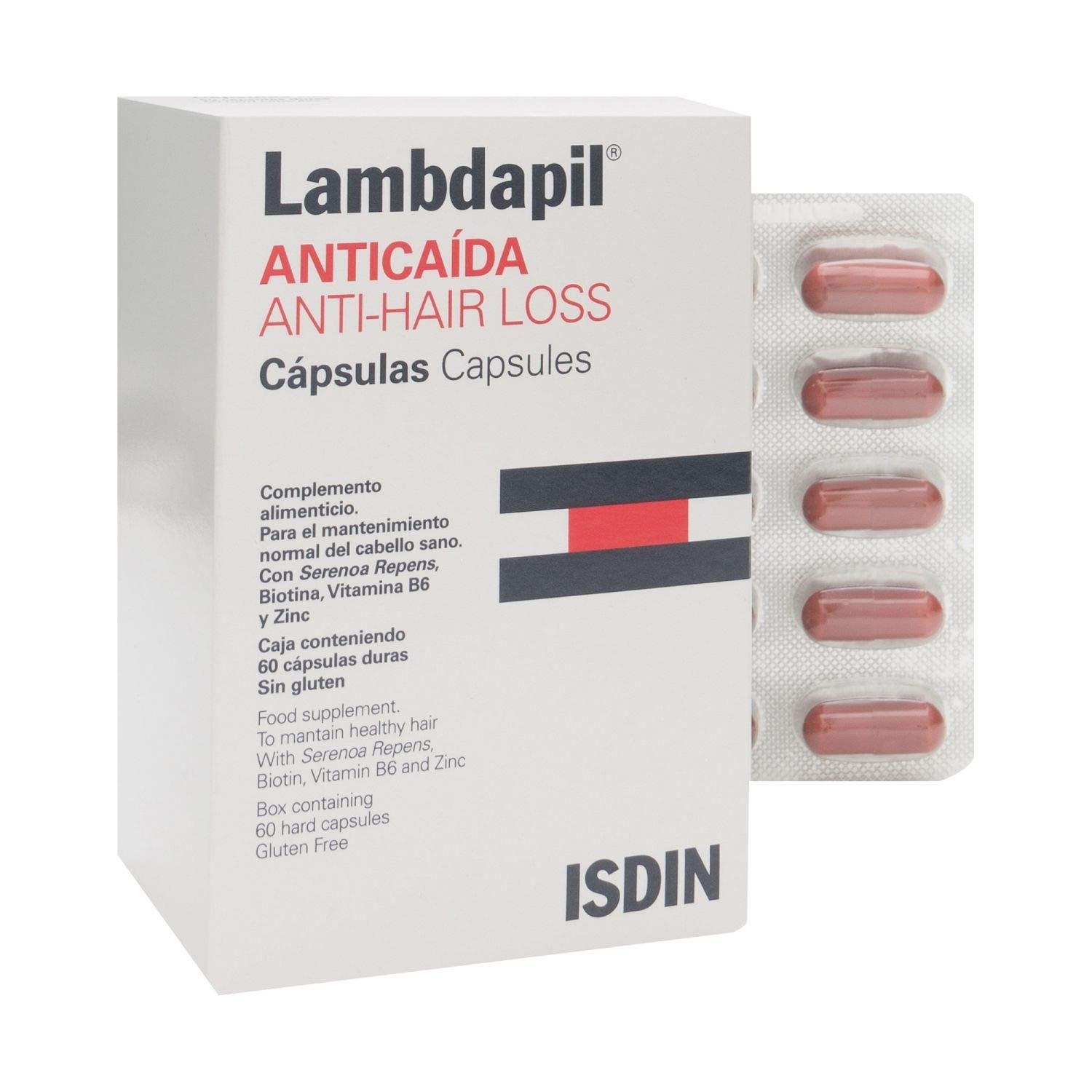 Amazon.com : Lambdapil Hair Loss Capsules 60 Caps - Hair Loss Traetment - Hair Growth Capsules - Hair Care : Beauty