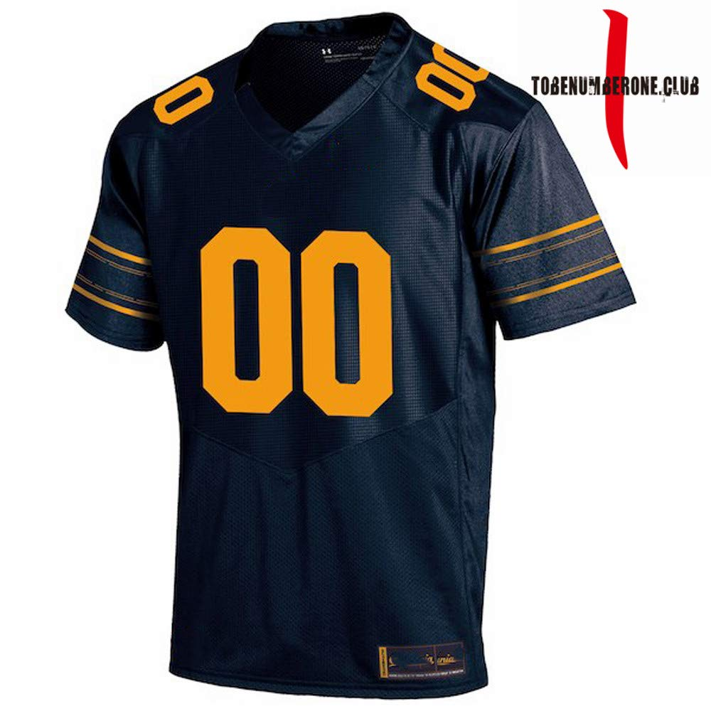 6f08189d9c5 Amazon.com  Custom Navy Red Yellow Men s Sublimated Football Game Team  Jerseys Customize Name and Numbers  Clothing