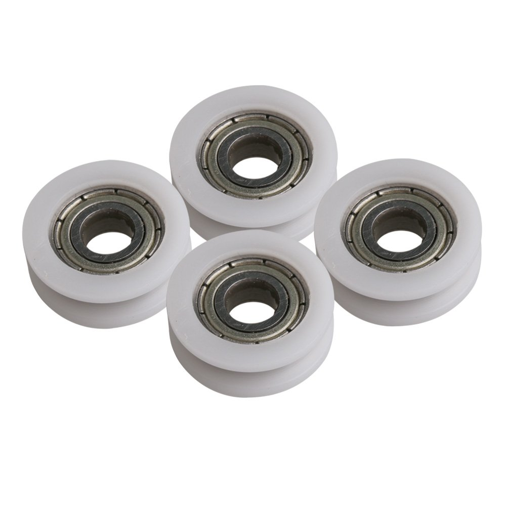 Mxfans 4PC 695ZZ Pulley Wheel Bearing Round U-Type Groove 18x5MM for Window blhlltd