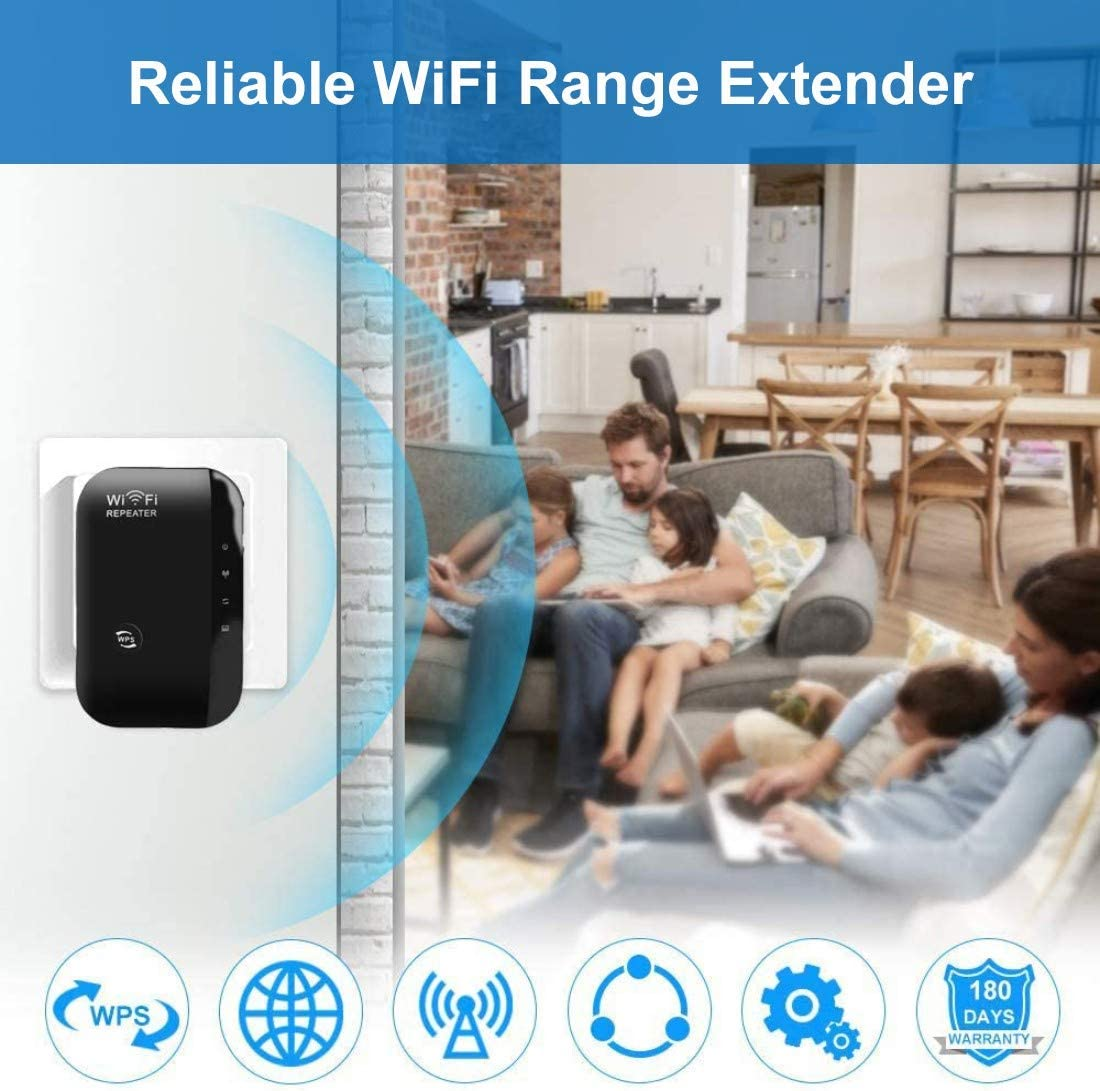 Compatible with All Routers Internet Range Booster Supports RP//AP Mode RIHANA WiFi Range Extender 2.4GHz WiFi Signal Booster 300Mbps Network Booster
