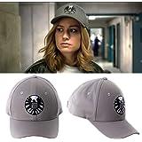 2019 Captain Marvel Cosplay Caps Carol Danvers Hat S.H.I.E.L.D LOGO HAT ャプテン マーベル コスプレ キャップ 帽子 (サイズ調整可能) キャロル ダンバース コスチューム ハット 帽子 キャップ