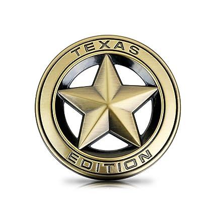 DSYCAR Diameter 3u0026quot; 3D Metal TEXAS EDITION Star Car Emblem Bagde For  JEEP Dodge Mercedes