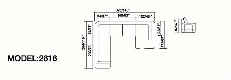 Amazon.com: My Aashis Arezzo - Sofá seccional, talla D ...