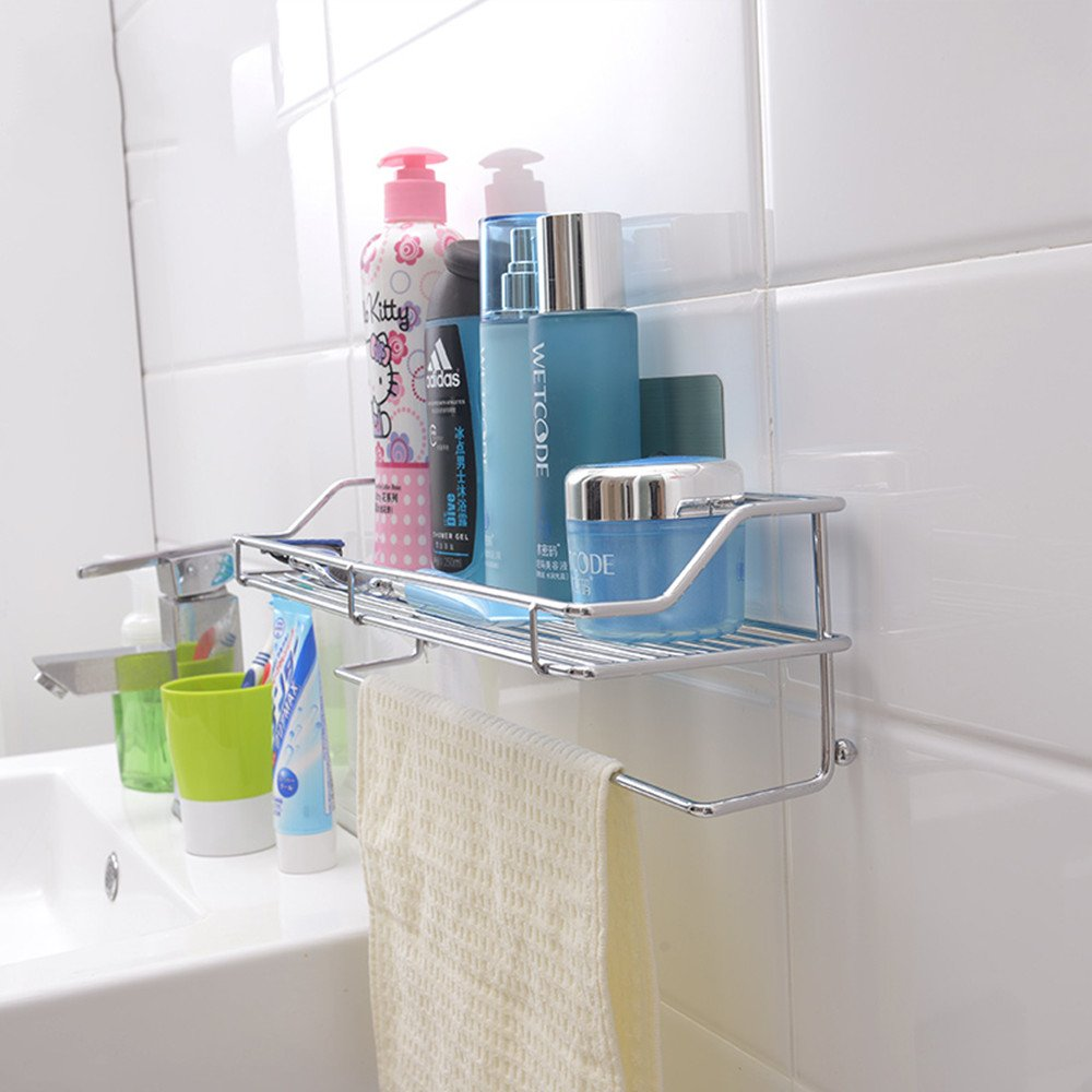 Amazon.com: Homespace Suction Cup Storage Rack Bathroom Sucker ...