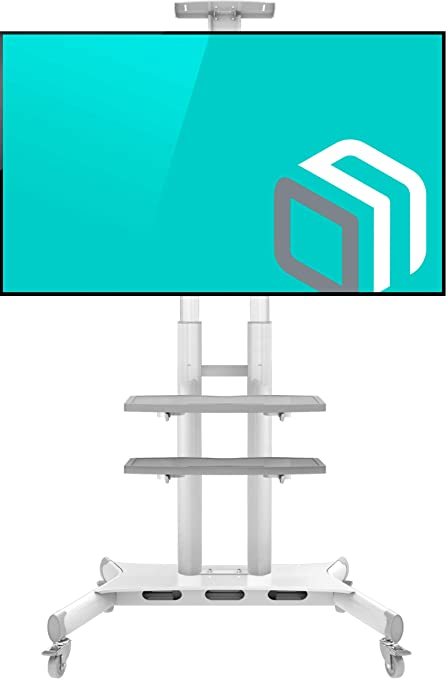 Carrelli Porta Tv Led.Onkron Supporto Tv Da Pavimento Per Schermi 55 Amazon It