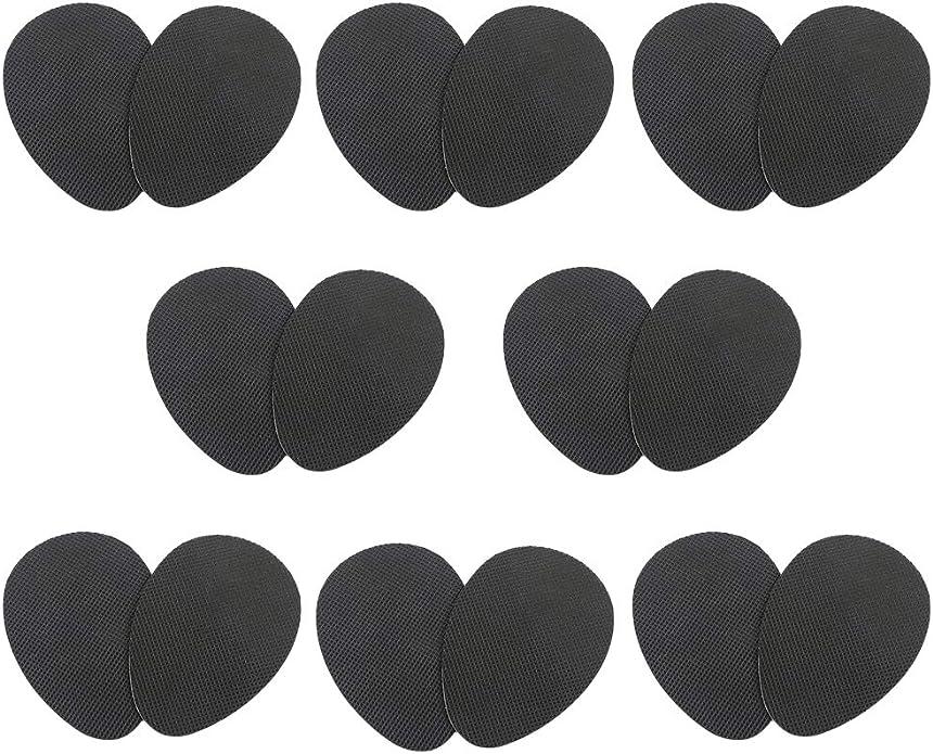 IWILCS 8 paires de semelles antid/érapantes auto-adh/ésives Coussin de protection de semelle antid/érapante semelle antid/érapante en caoutchouc pour chaussures /à talons hauts noir