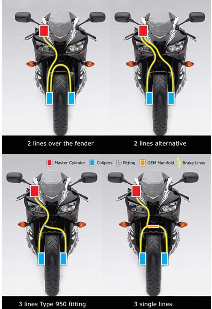 RONSHIN Caldo per 90 100 110 120cm Moto Dirt Bike Intrecciato in Acciaio Idraulico Rinforzare la Linea del Freno Tubo Frizione Tubo Olio Black 100cm