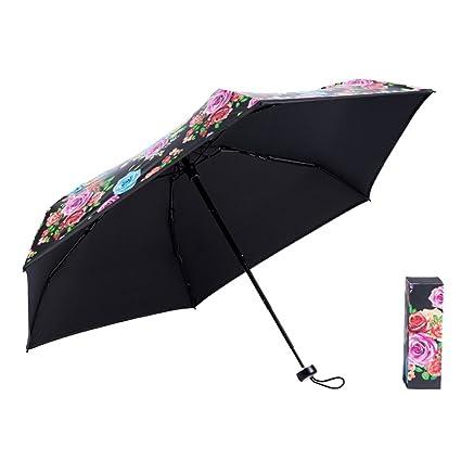 A Paraguas Plegable Paraguas Doble Sol Ultra-luz Paraguas De Bolsillo De La Moda De