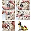 Steel Bottle Opener Stainless Waiter Metal Wine Corkscrew Bottle Handle Opener Corkscrews