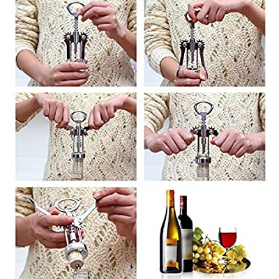 Steel Bottle Opener Stainless Waiter Metal Wine Corkscrew Bottle Handle Opener Corkscrews