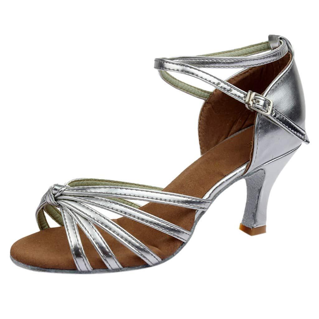 Bailar Bachata y Salsa Zapatos de baile de salsa de tango 35-41 Zapatos de Salsa CN37 Zapatos de baile ❤️Neubula cuero Zapatos de Baile Latino mujer EU36 , Negro 1