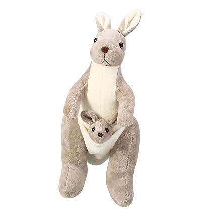 Amazon Com Toonol Pp Cotton Australia Kangaroo Animal Doll Plush