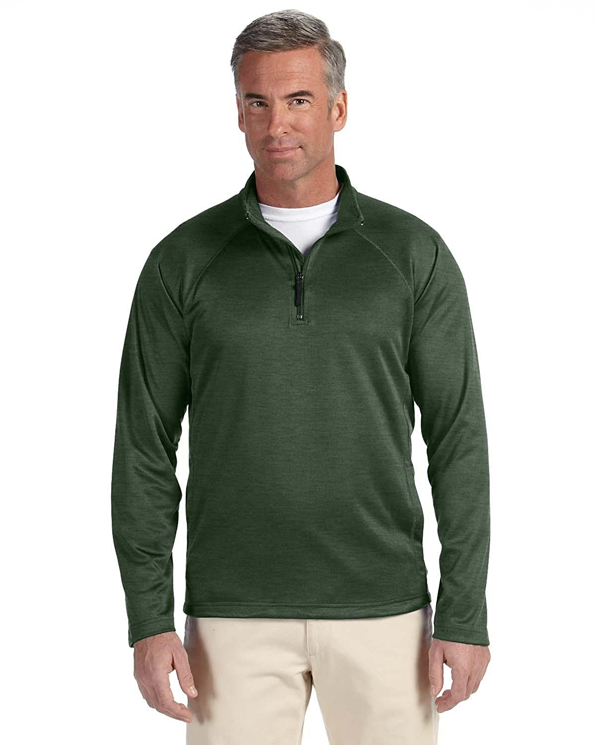 Devon /& Jones Mens Stretch Tech-Shell Compass Quarter-Zip3XL FOREST HEATHER