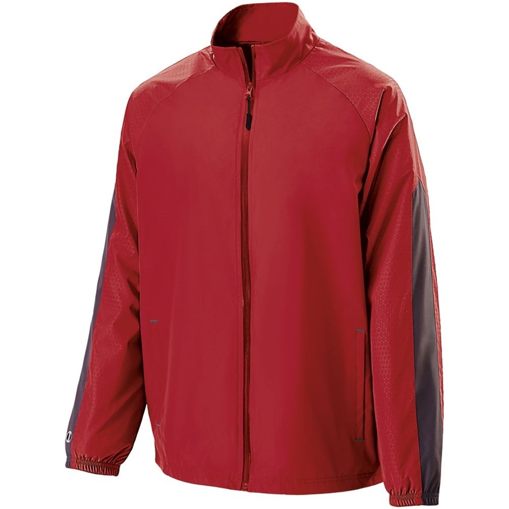 Holloway Youth Bionic Jacket (Medium, Scarlet/Carbon) by Holloway