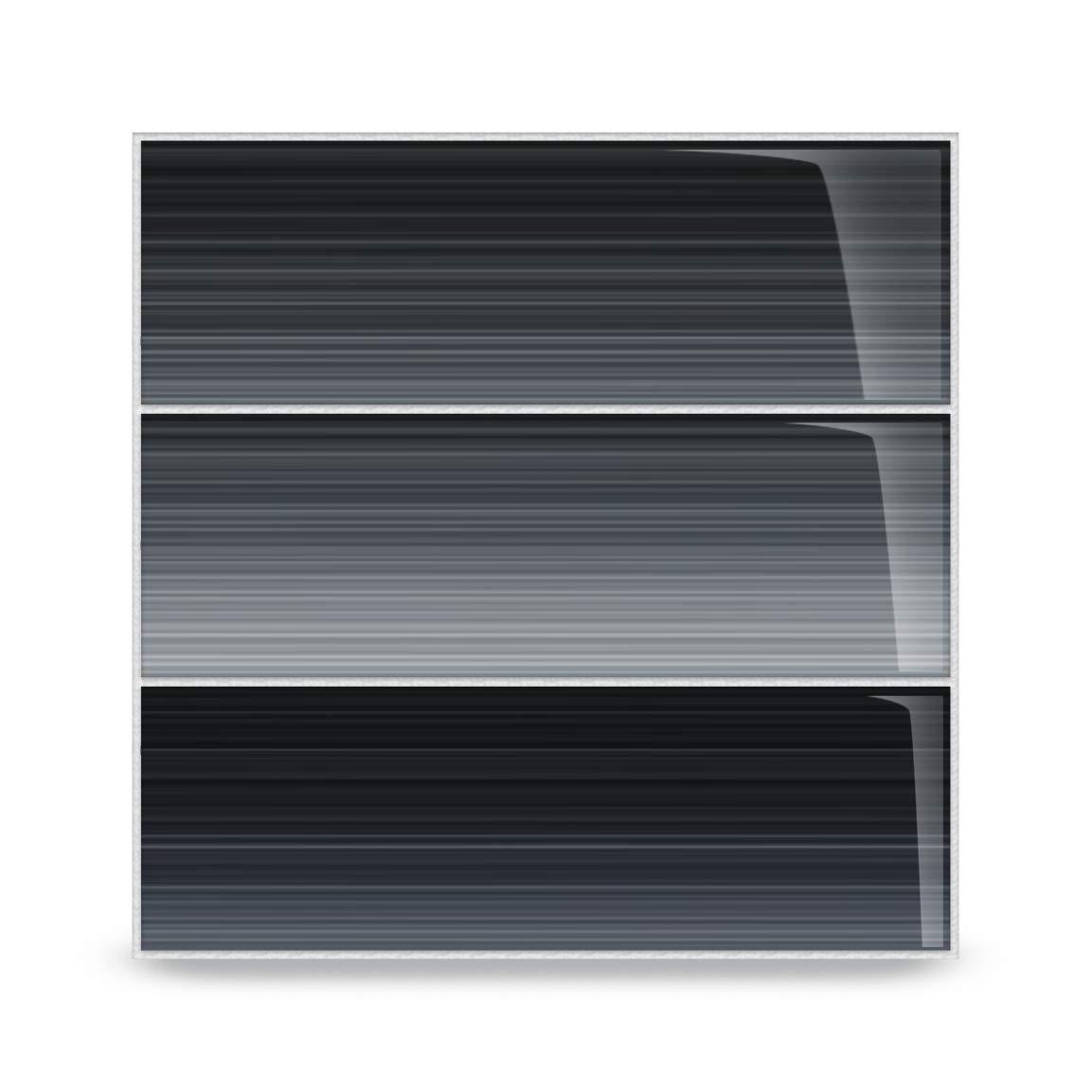 Bodesi Late Night Glass Subway Tile for Kitchen Backsplash or Bathroom, 4x12