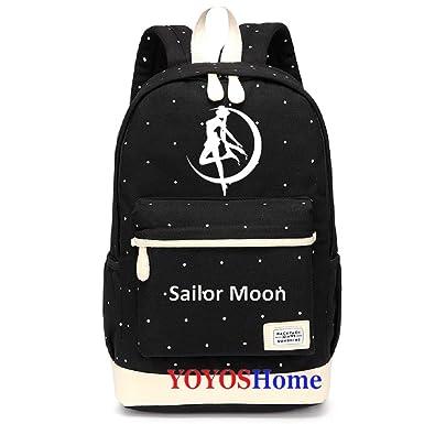 74e5cd0e283d Amazon.com: YOYOSHome Anime Sailor Moon Cosplay Luna Daypack Bookbag ...