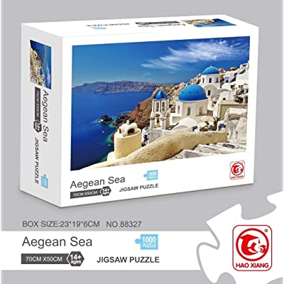 Meryi Aegean Sea Jigsaw Puzzle 1000 Pieces for Adults, Adult Children Intellective Educational Toy DIY Collectibles Modern Home Decoration…: Toys & Games