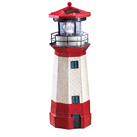 Amazon Com Collections Etc Solar Nautical Lighthouse Statue With