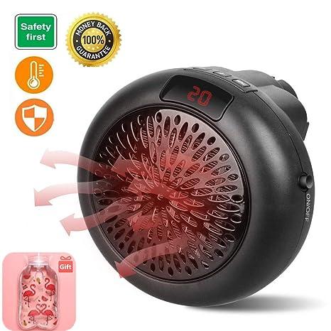 Calefactor Portátil Mini Estufa Eléctrica 1000 W Instant Heater Termoventilador Bajo Consumo con Termostato Ajustable,