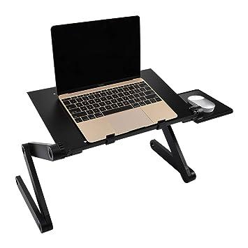 Mesa para Ordenador,Soporte para Portátil con Soporte para ratón para Notebook PC Laptop: Amazon.es: Electrónica