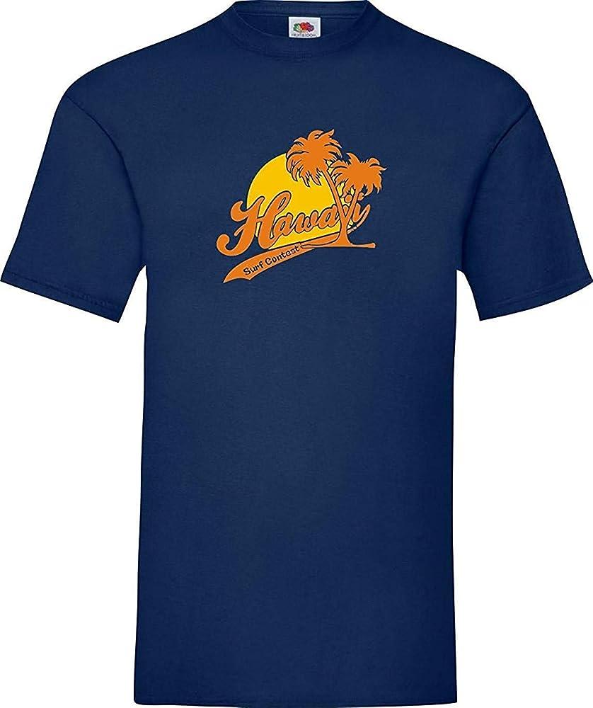 Shirtinstyle Camiseta de Hombres Hawai Surf Concurso Tamaños S-XXXL - Azul, S: Amazon.es: Deportes y aire libre
