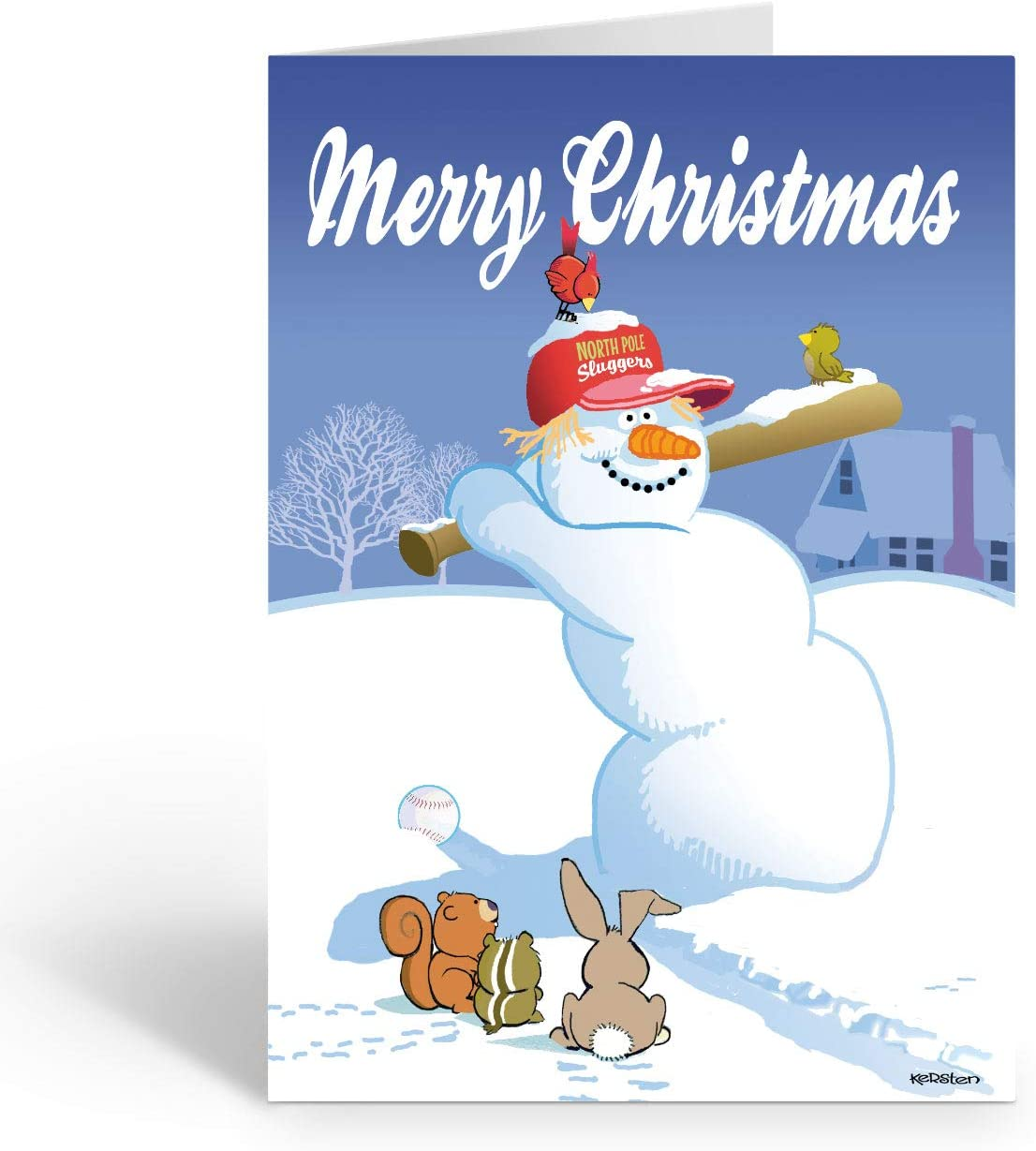 Snowman with Children New in Plastic Lovepop Greeting Card