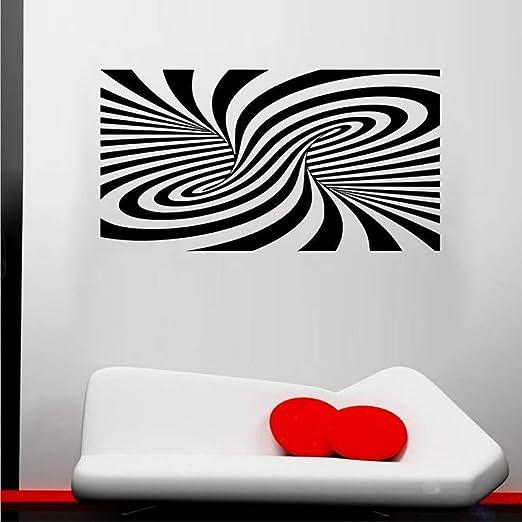 jiuyaomai Ilusión de Moda Abstracta Pegatinas de Pared para Sala ...